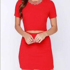 Lulu's Cut-Out Mini Dress